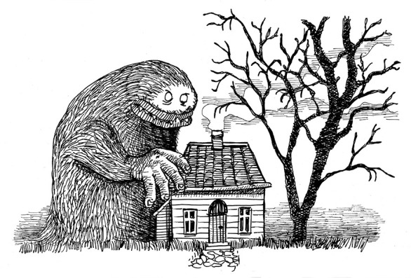 The Little House and the Monster by Morten Bjerg, Pen on Paper, Dec 2016
